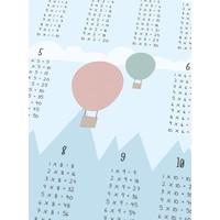 thumb-Tafelsommen poster kinderkamer luchtballon blauw-4
