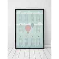 thumb-Rekenen tafel poster kinderkamer luchtballon mint-6