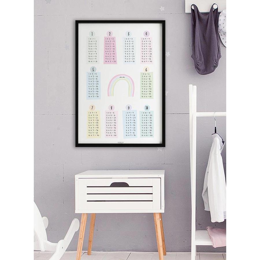 Rekenen tafel poster kinderkamer: regenboog-6