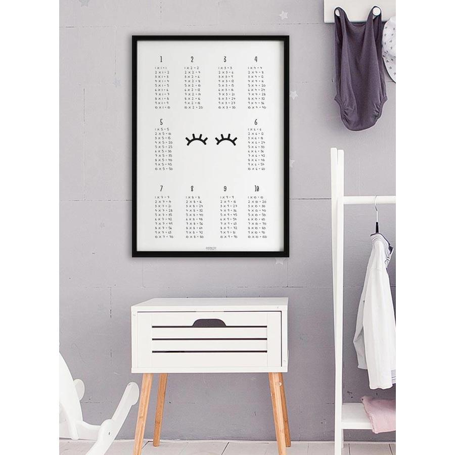 Rekenen tafel poster kinderkamer: wimpers-6