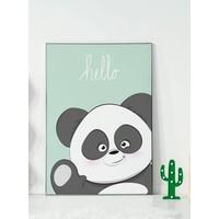 thumb-Poster kinderkamer hello Panda mintgroen-2