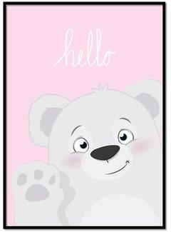 Lievespulletjes Poster hello beertje roze