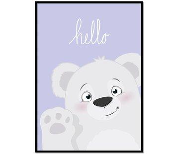 Lievespulletjes Poster hello beertje Lila
