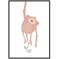 thumb-Poster kinderkamer lief aapje - met tekst-1