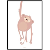 thumb-Poster kinderkamer lief aapje-1
