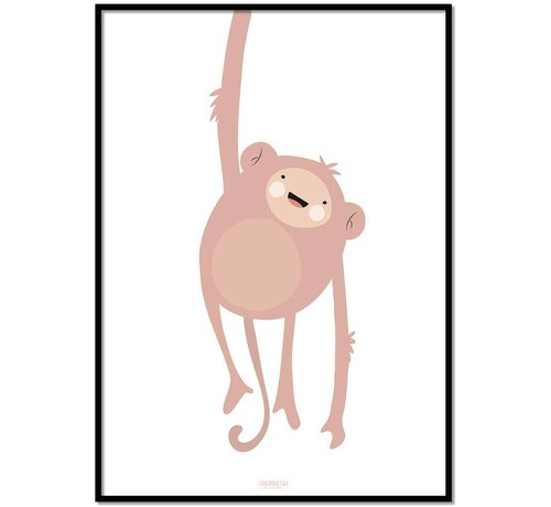 Lievespulletjes Poster kinderkamer lief aapje