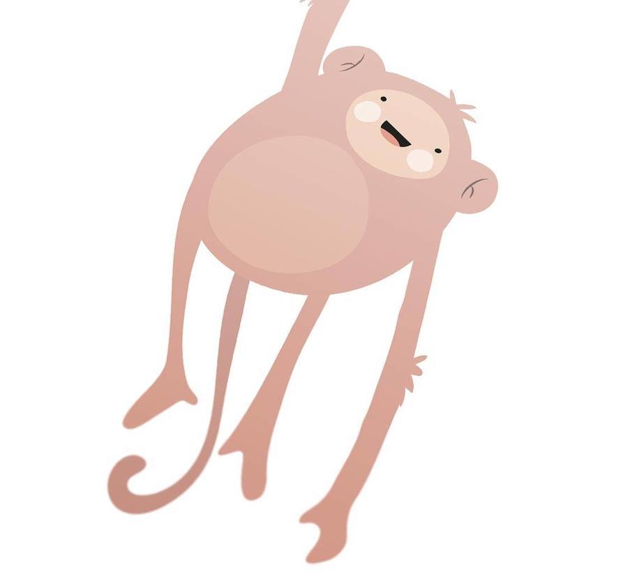 Poster kinderkamer lief aapje