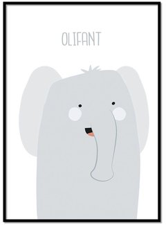 Lievespulletjes Poster olifantje met tekst