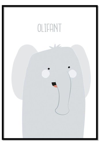 Poster olifantje met tekst