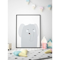 thumb-Poster babykamer olifantje-2