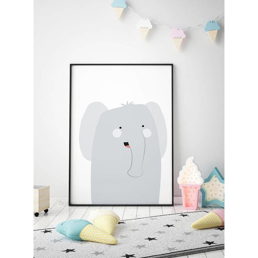 Poster babykamer olifantje-2
