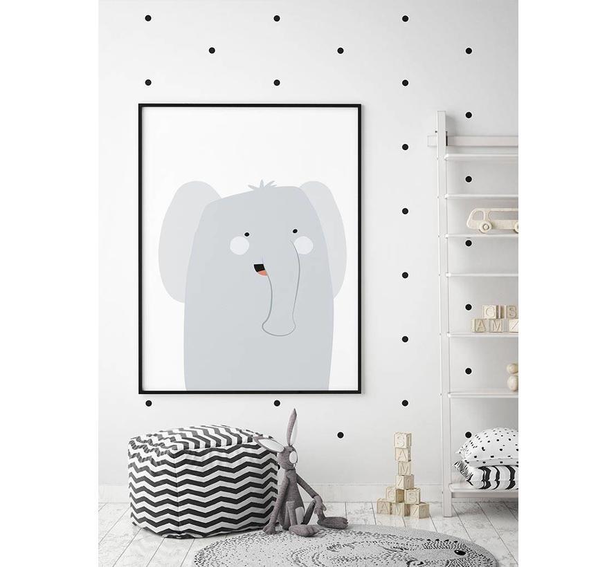 Poster babykamer olifantje