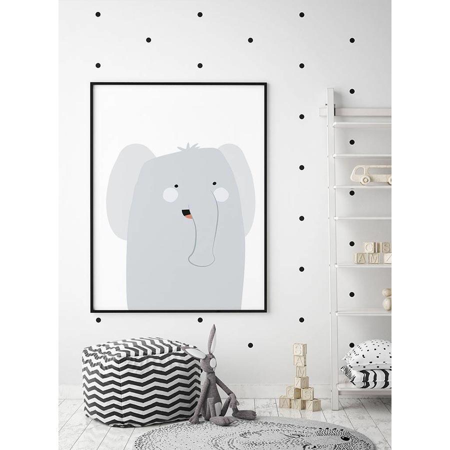 Poster babykamer olifantje-4