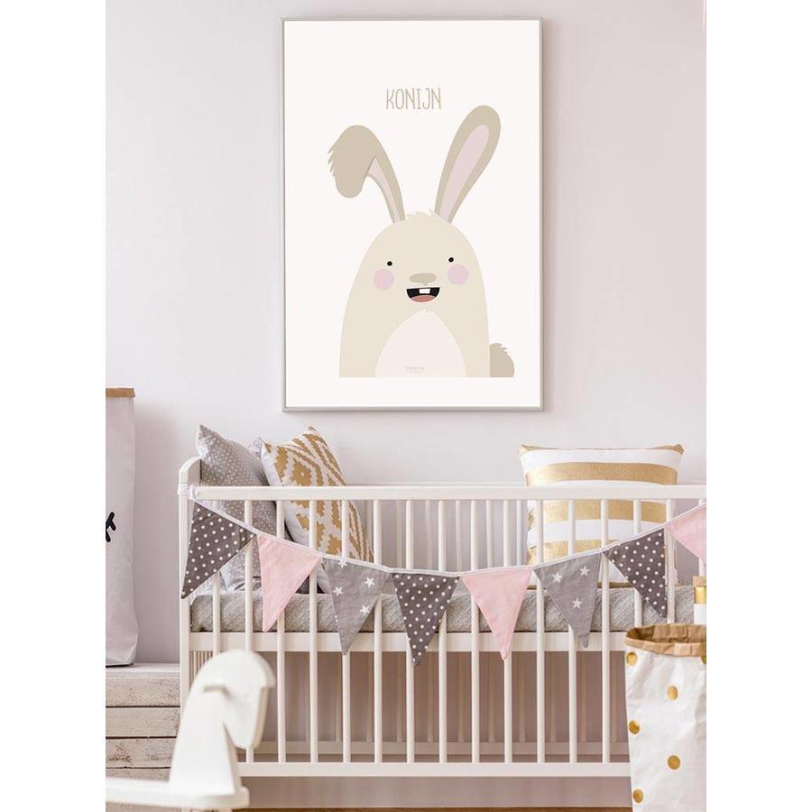 Poster babykamer konijntje met tekst-2