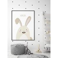 thumb-Poster babykamer konijntje met tekst-4