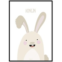 thumb-Poster babykamer konijntje met tekst-1