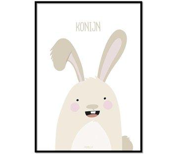 Lievespulletjes Poster konijntje met tekst