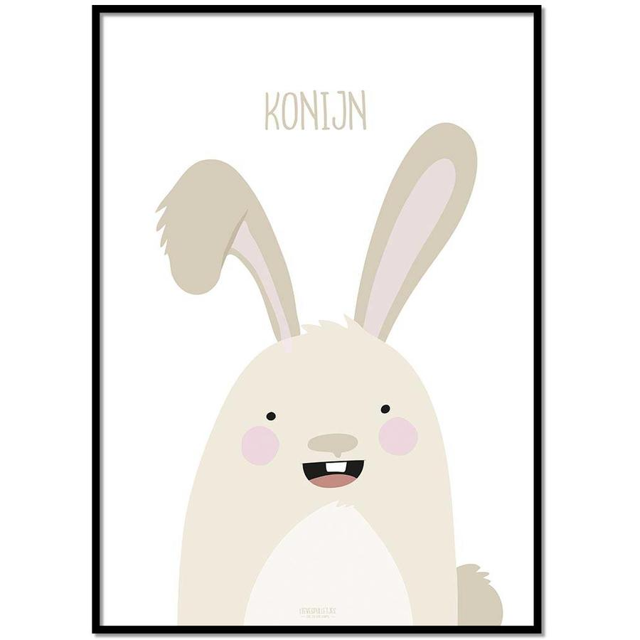 Poster babykamer konijntje met tekst-1