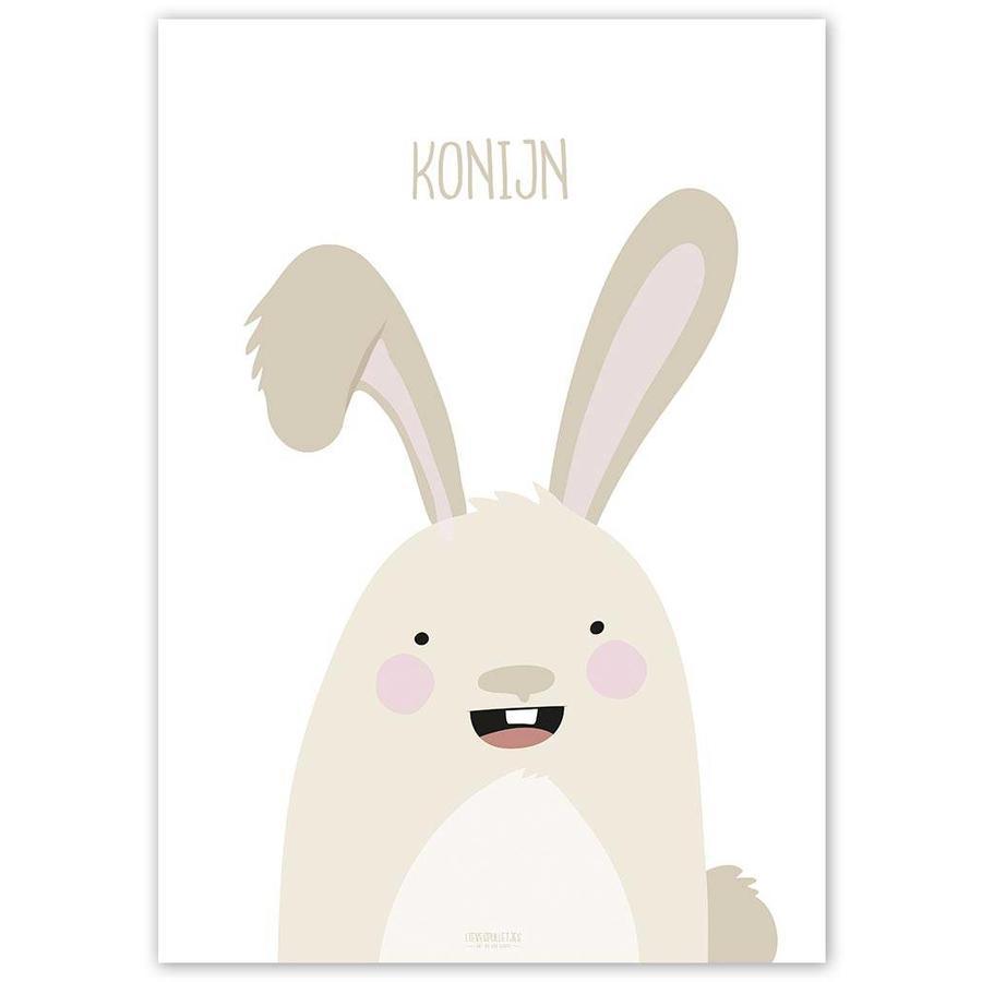 Poster babykamer konijntje met tekst-5