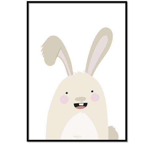Lievespulletjes Poster babykamer konijntje