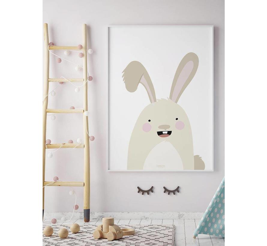 Poster babykamer konijntje
