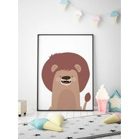 thumb-Poster kinderkamer leeuw-2