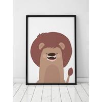 thumb-Poster kinderkamer leeuw-3