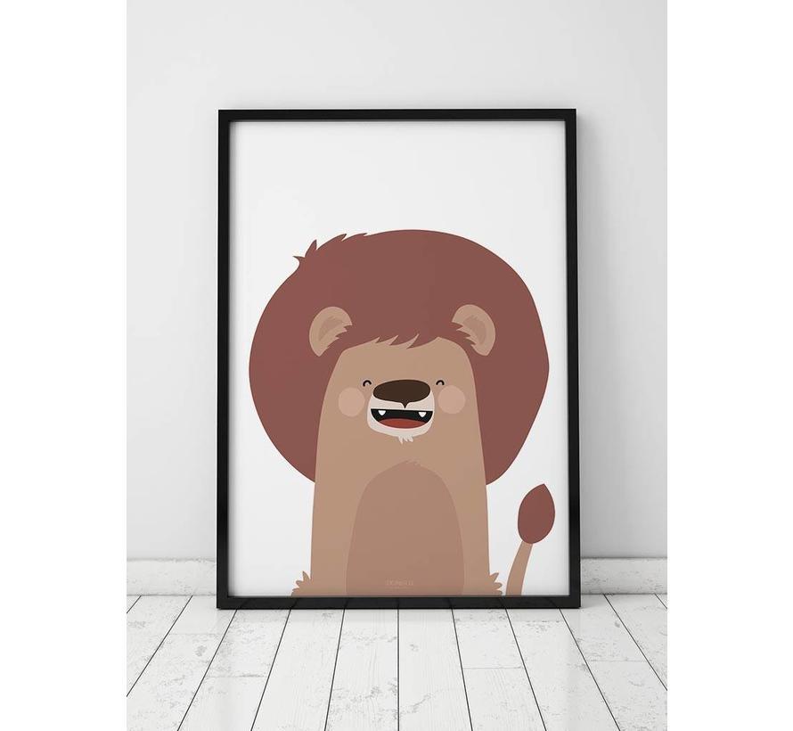 Poster kinderkamer leeuw
