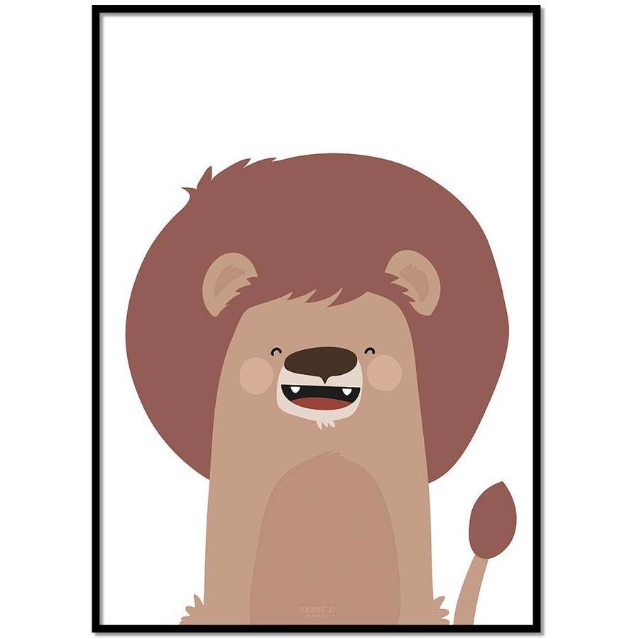 Poster kinderkamer leeuw-1