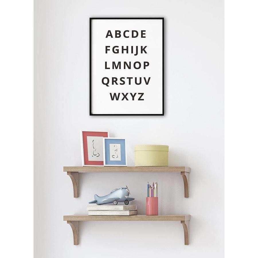 Alfabet poster - zwart wit-3
