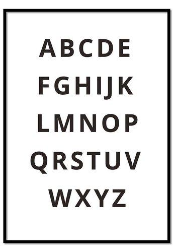 Alfabet poster - zwart wit