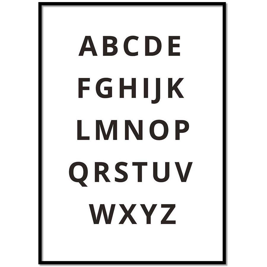 Alfabet poster - zwart wit-1