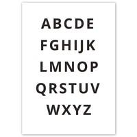 thumb-Alfabet poster - zwart wit-4