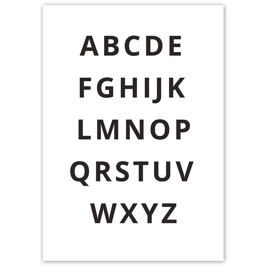 Alfabet poster - zwart wit-4