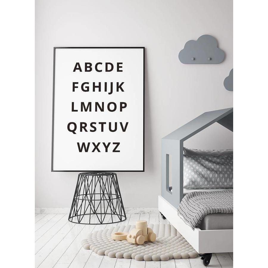 Alfabet poster - zwart wit-2