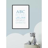 thumb-ABC poster voor de baby of kinderkamer (blauw)-2