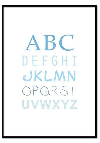 ABC poster - blauw