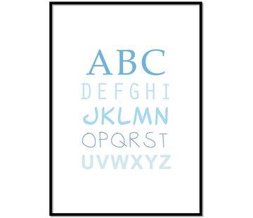 Lievespulletjes ABC poster - blauw