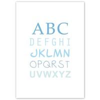 thumb-ABC poster voor de baby of kinderkamer (blauw)-3