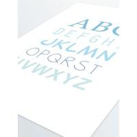 thumb-ABC poster voor de baby of kinderkamer (blauw)-5