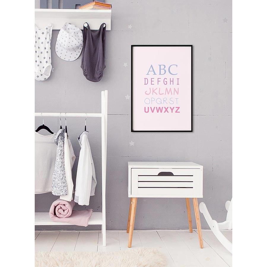 ABC poster - roze-6