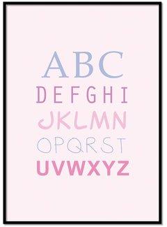 Lievespulletjes ABC poster - roze