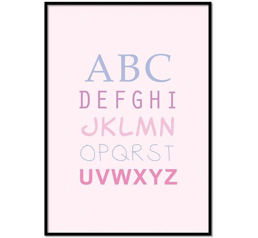 ABC poster - roze