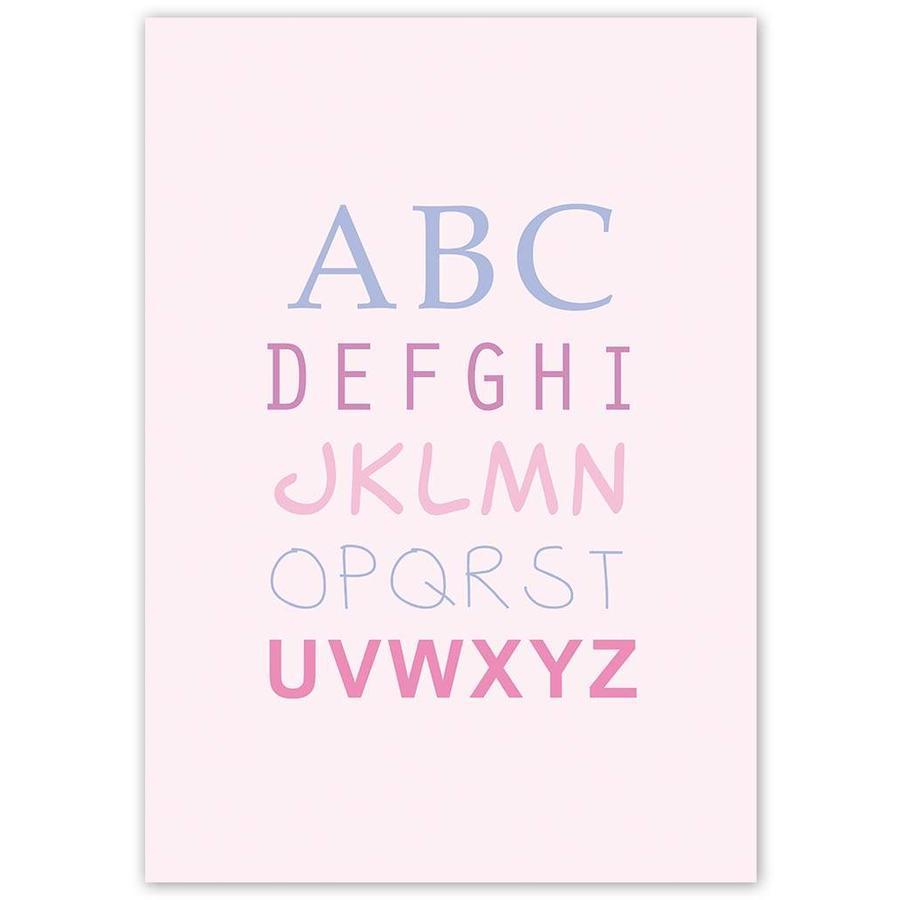 ABC poster - roze-5