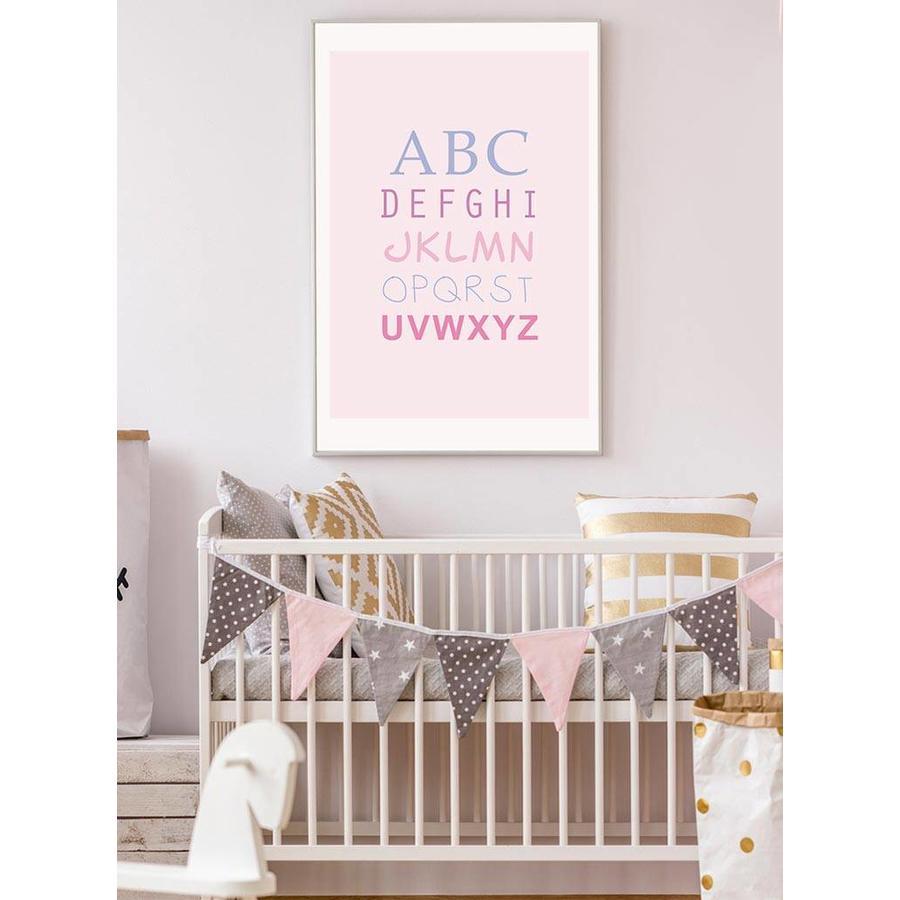 ABC poster - roze-2