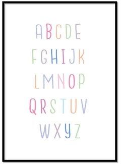 Lievespulletjes Alfabet poster - lieve kleurtjes