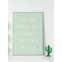 thumb-Alfabet poster cartoon - mintgroen-5