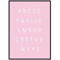 thumb-Alfabet poster cartoon - roze-1