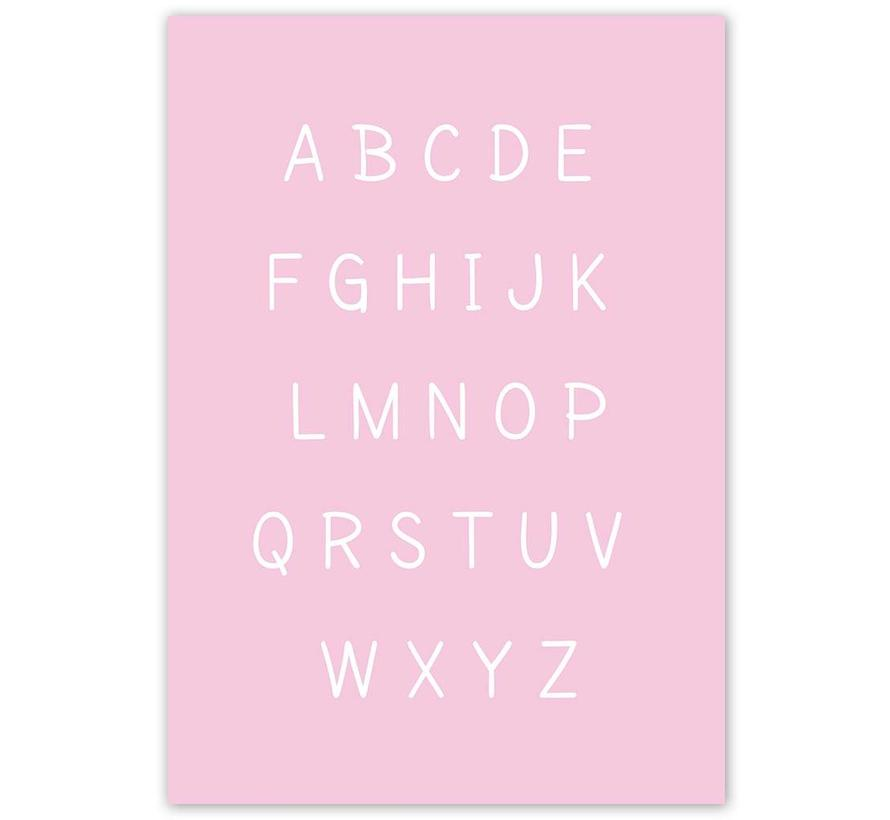 Alfabet poster cartoon - roze