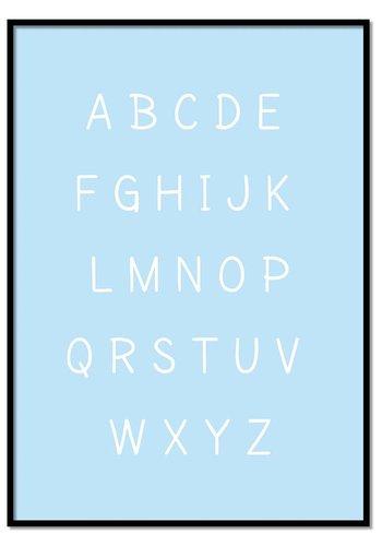 Alfabet poster cartoon - blauw